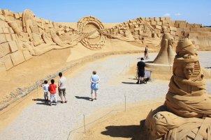 Billede af Sandskulpturfestival