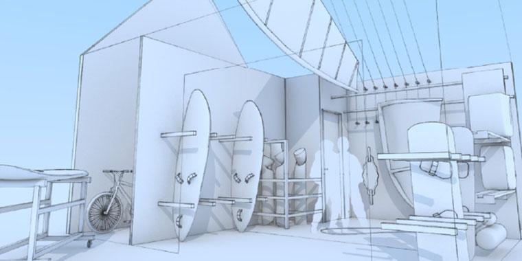 Visualisierung des ultimativen Surferhauses