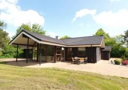 Stilvolles und gepflegtes Ferienhaus mit Sauna und Whirlpool nah am Zentrum. Kat. nr.:  20146, Blåbærvangen 16, Jegum;