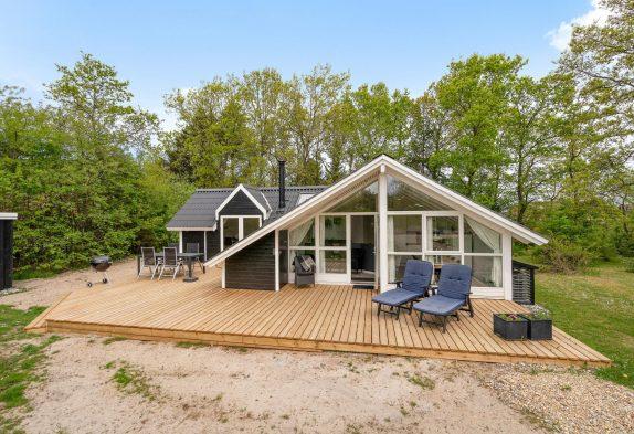 Gemütliches Ferienhaus mit Sauna auf ungestörtem Naturgrundstück