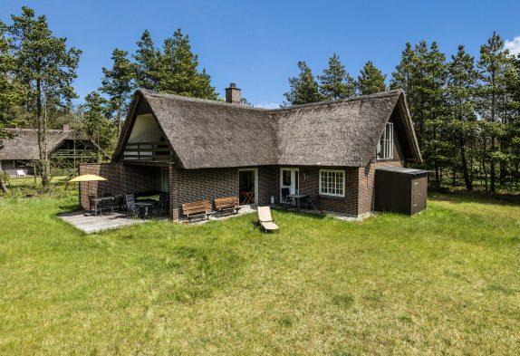 Charmerende ikke-ryger stråtækt feriehus med brændeovn