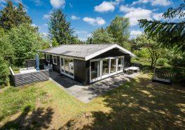 Gemütliches Ferienhaus mit Kaminofen auf idyllischem Naturgrundstück