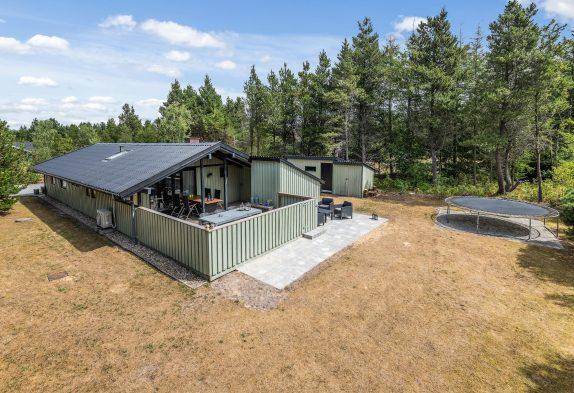 Gemütliches hundefreundliches Ferienhaus mit Sauna und geschlosener Terrasse