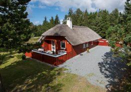 Idyllisk stråtagshus med sauna og brændeovn