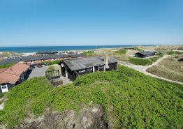 Ferienhaus mit Meerblick von der Terrasse