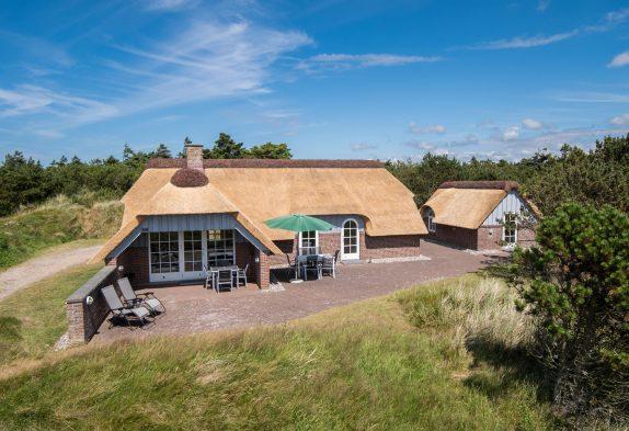 Schönes Reetdachhaus mit Sauna und großer Terrasse