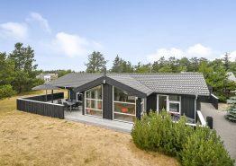 Lækkert kvalitetssommerhus med sauna, spa og aktivitetsrum (billede 1)
