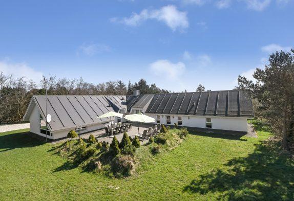 Stort poolhus med minigolfbane, spa, aktivitetsrum og hunde tilladt