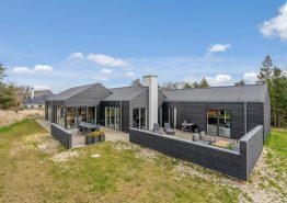 Lækkert feriehus i Blåvand med udendørsbruser, spa, sauna og aktivitetsrum (billede 1)