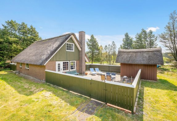 Gemütliches Reetdachhaus mit geschlossener Terrasse, 6 Personen