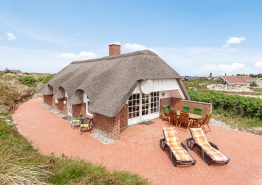 Gemütliches Ferienhaus mit Whirlpool, Infrarotsauna und grosser Terrasse auf einem geschützten Dünengrund
