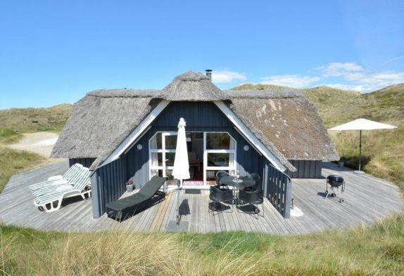 Schönes Ferienhaus mit Reetdach und toller Terrasse