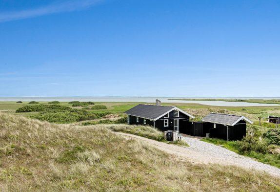 Schönes Ferienhaus mit Blick auf den Ringkøbing Fjord