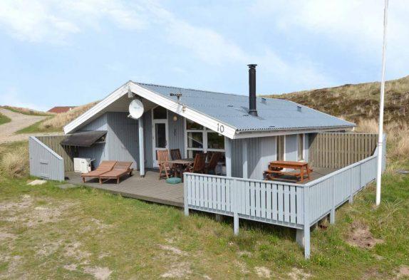 Ferienhaus mit Blick auf den Ringkøbing Fjord und Sauna