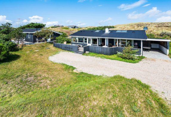 Ferienhaus in Skodbjerge nah am Meer und am Fjord mit Blick auf die Dünen