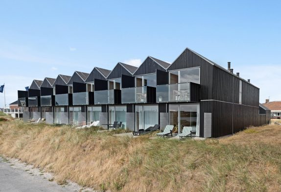 Reihenhaus-Apartment direkt in Hvide Sande mit Fjordblick und Sauna