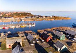 Lystfisker hytte i Hvide Sande med gratis strøm