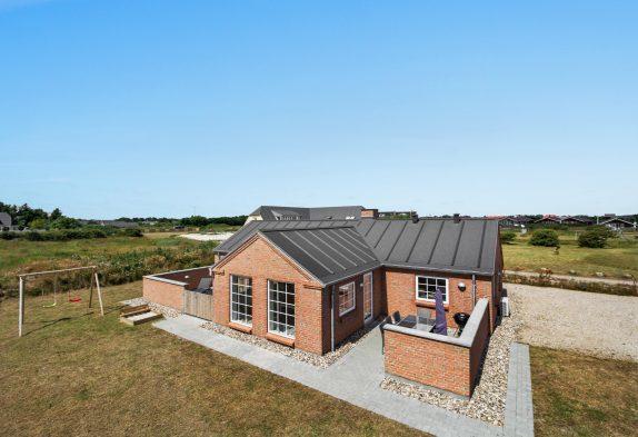 Ferienhaus mit Sauna und geschlossener Terrasse