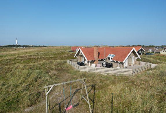 Ferienhaus mit Blick auf den Nr. Lyngvig Leuchtturm