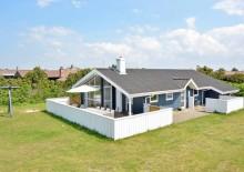 Sauna- og spahus med lukket terrasse, 2 hunde tilladt. Kat. nr.:  G5593, Fyrmarken 195;
