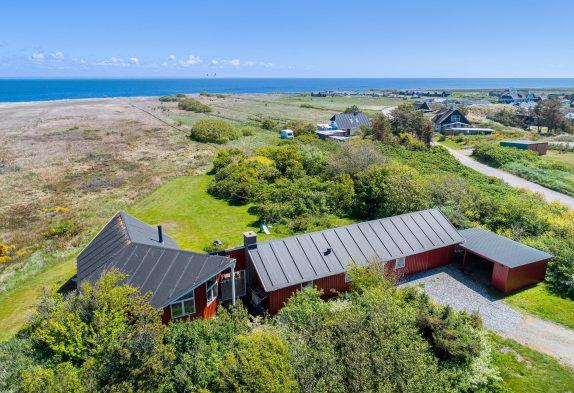 Ferienhaus mit Panoramaaussicht auf den Ringkøbing Fjord