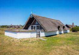 Reetdachhaus mit Whirlpool auf grossem Naturgrundstück. Kat. nr.:  H5449, Nordsø Ferievej 30;