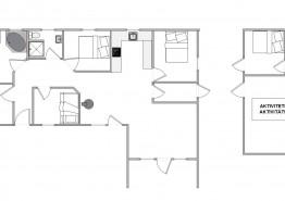 Ferienhaus mit Aktivitätsraum und schönem Ausblick (Bild 2)