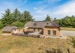 Reetdachhaus in Vester Husby mit Sauna, Whirlpool und großem Garten. Kat. nr.:  L6534, Lyngklitvej 2;