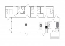 Tolles Ferienhaus mit Sauna und Innenhof (Bild 2)