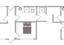 Kvalitetshus med aktivitetsrum og udendørs bruser på fredelig grund (billede 2)