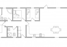 Ferienhaus m. Kamin, Reetdach und geschlossener Terrasse (Bild 2)