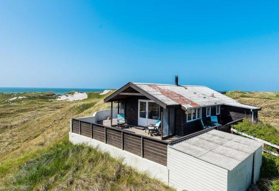 Kleines Ferienhaus inSøndervigmit toller Lage und Meerblick