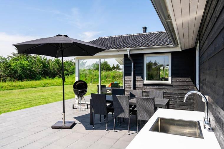 Ferienhaus mit Außenküche, ideal für Angler