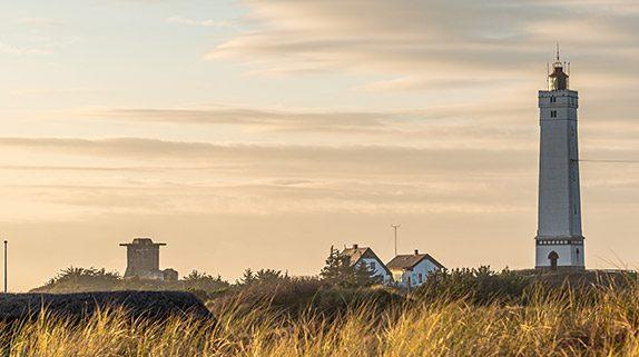 Leuchtturm Blåvandshuk Fyr am westlichsten Punkt Dänemarks in Blåvand