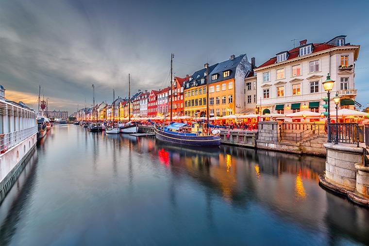 Nyhavn Hafen in Kopenhagen