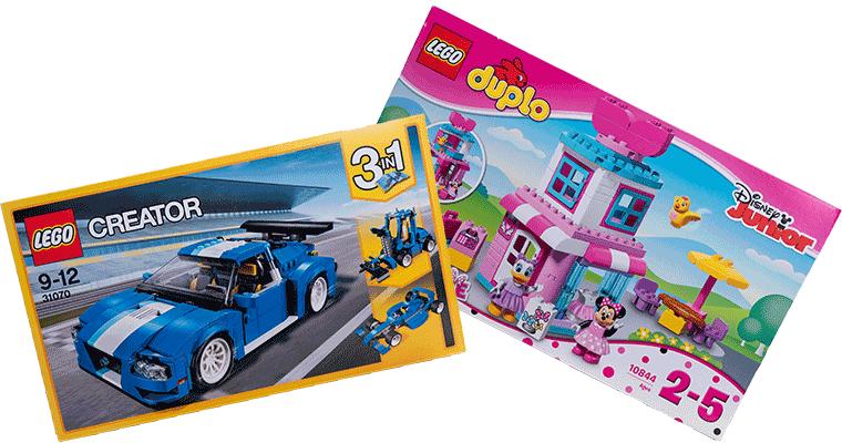 Gewinne diese Lego-Schachteln