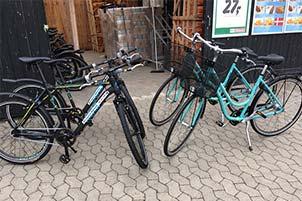 Billede af Fahrradverleih beim SPAR-Kaufmann in Bjerregård