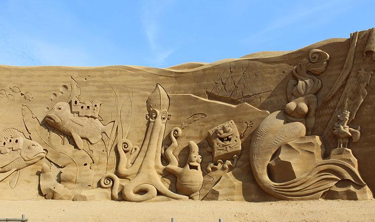 Jedes Jahr gibt es ein neues Thema bei der Sandskulpturfestival