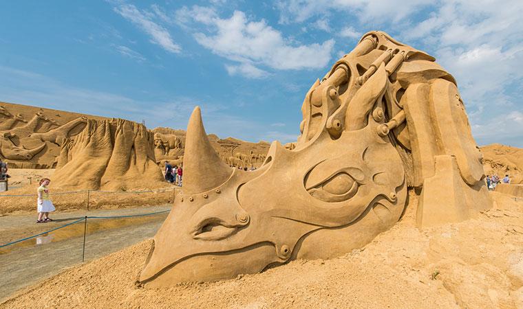 Den Internationale Sandskulpturfestival i Søndervig