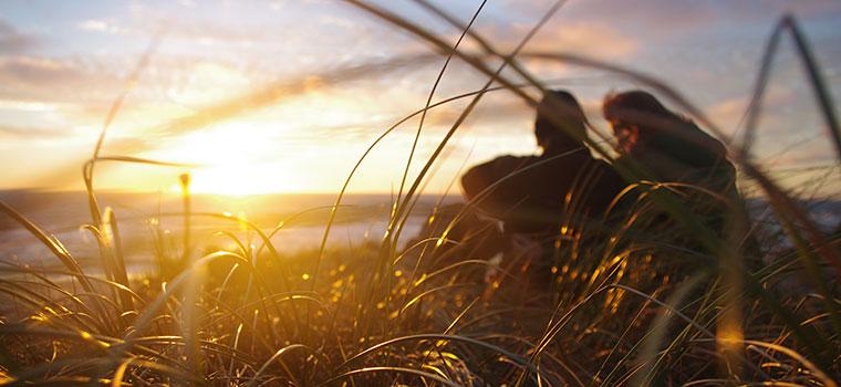 At sidde på en klittip og se solnedgangen over Vesterhavet er en helt særlig oplevelse