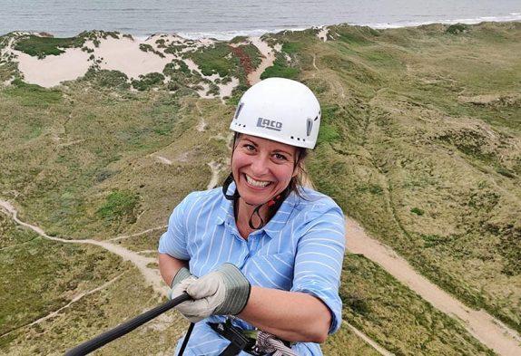 Abseilen vom Leuchtturm Lyngvig Fyr