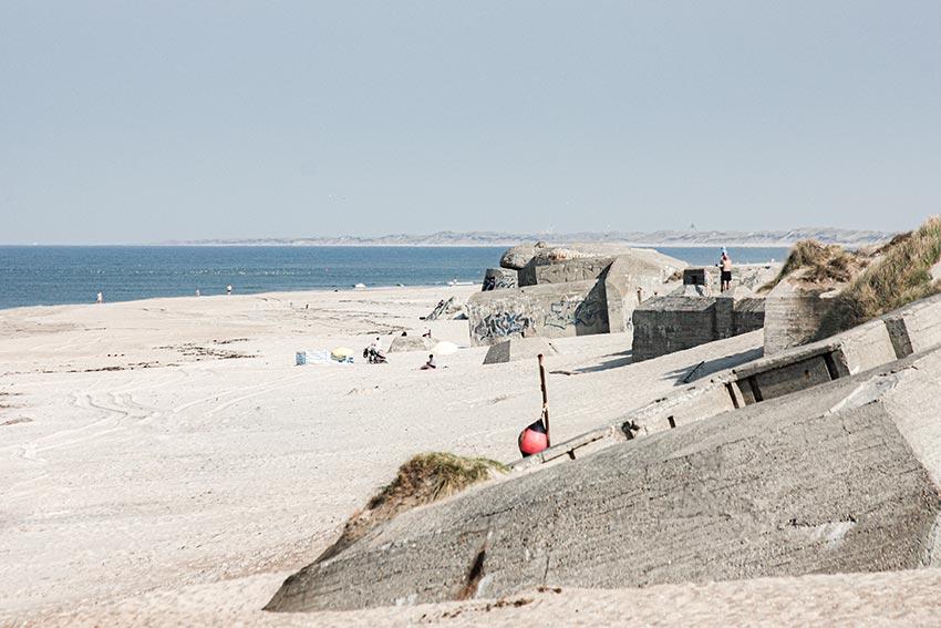 Bunker am Strand in Dänemark (Houvig)
