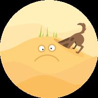 Hunde bitte an der Leine in den Dünen