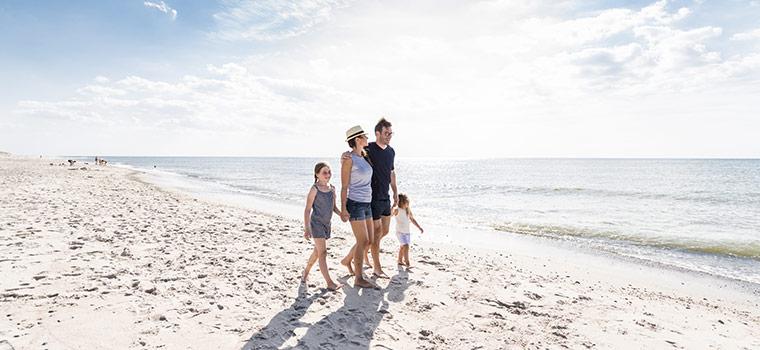 Ferie ved stranden og Vesterhavet er en fantastisk oplevelse
