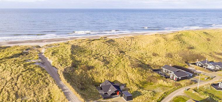 Ferien dicht am Strand und Meer an der Nordsee in Dänemark