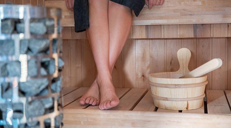 Ferienhaus mit Sauna im Urlaub im Winter in Dänemark