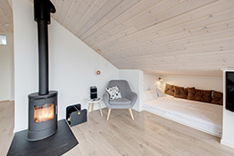 Alkoven im Ferienhaus in Dänemark