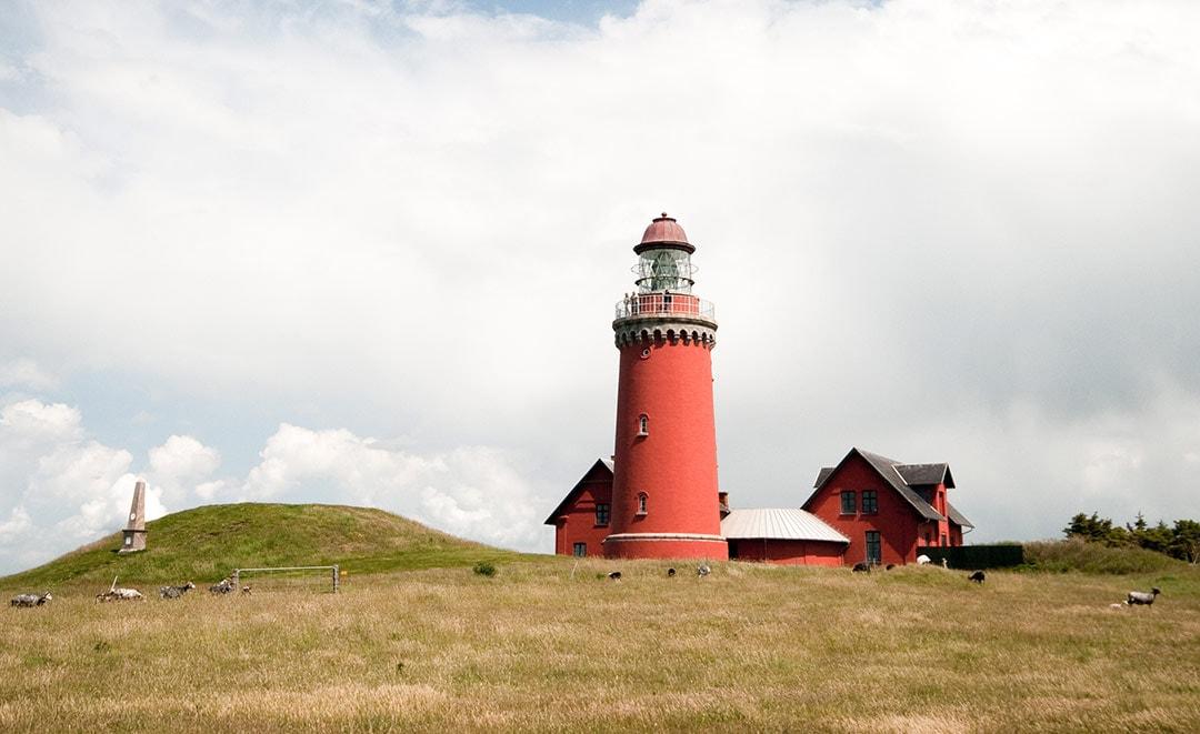 Leuchtturm Bovbjerg Fyr an der Nordsee in Dänemark