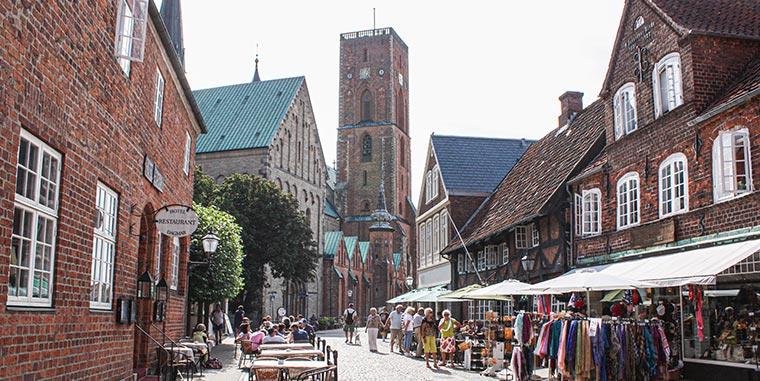 Altstadt von Ribe in Dänemark