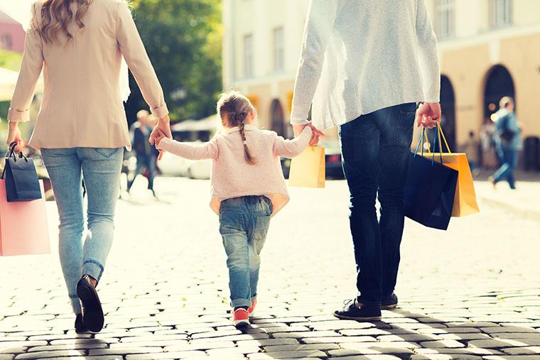 Einkaufen in Dänemark mit der Familie
